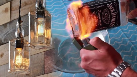 Remarkable Elite Liquor Bottle Pendant Lights Throughout Upcycle Old Liquor Bottles Into This Incredible Diy Lighting (View 16 of 25)