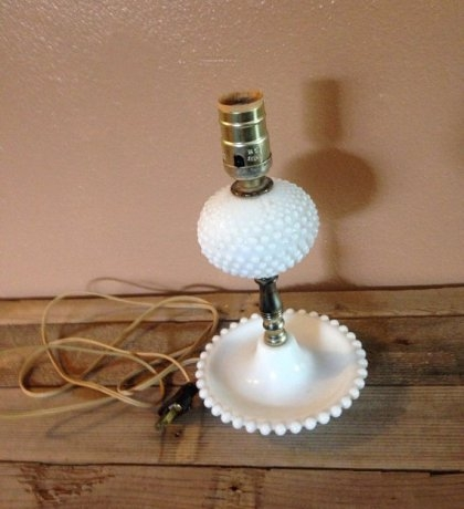 Remarkable Elite Milk Glass Light Fixtures With Regard To All Light Fixtures Honey Small Hobnail Milk Glass Table Lamp (Image 20 of 25)