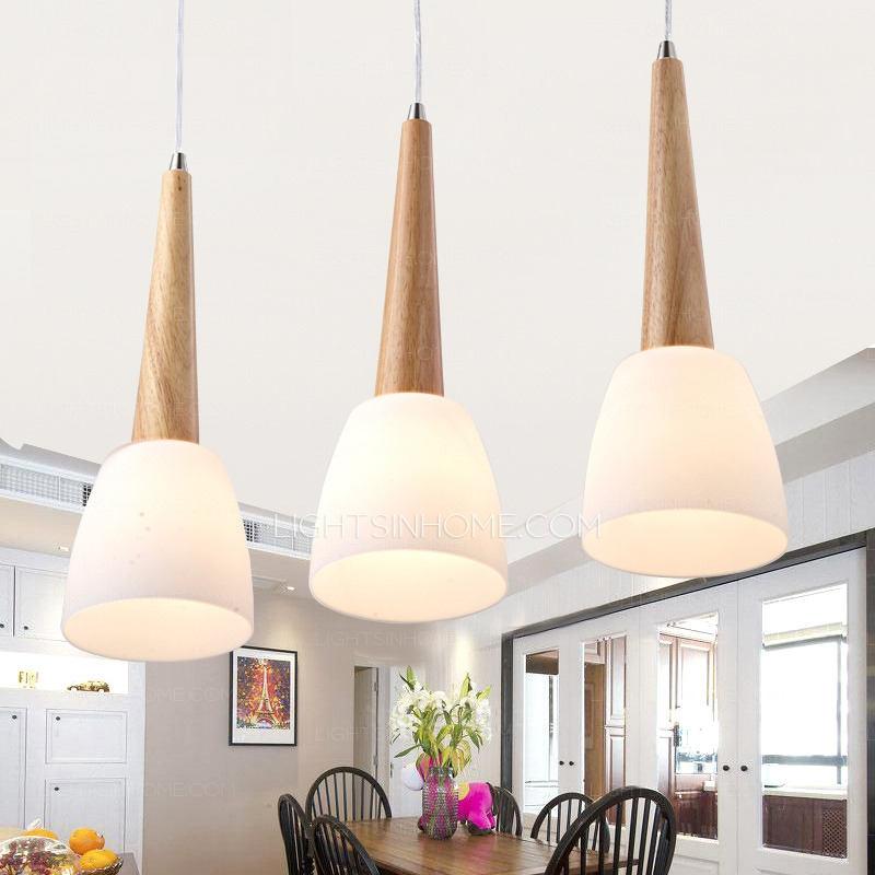 Remarkable Elite Wooden Pendant Lights Within Light Glass Shade Wooden Pendant Lights For Bedroom (Image 22 of 25)