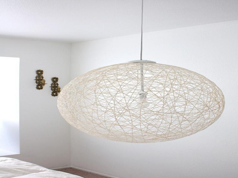 Remarkable Famous Diy Yarn Pendant Lights With Regard To Attractive Cool Pendant Lights Cool Lamps Diy Diy Ceiling Light (Image 20 of 25)