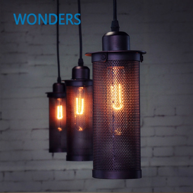 Remarkable Fashionable Arts And Crafts Pendant Lighting With Aliexpress Buy Industrial European Art Craft Net Pendant (View 23 of 25)