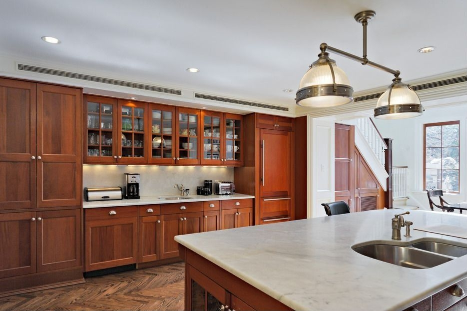 Remarkable Fashionable Double Pendant Lights For Kitchen In Craftsman Kitchen With Pendant Light Glass Panel Zillow Digs (Image 23 of 25)