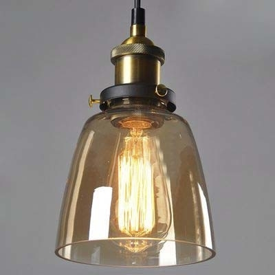 Remarkable Favorite Brown Glass Pendant Lights With Regard To Fashion Style Pendant Lights Amber Industrial Lighting (Image 20 of 25)