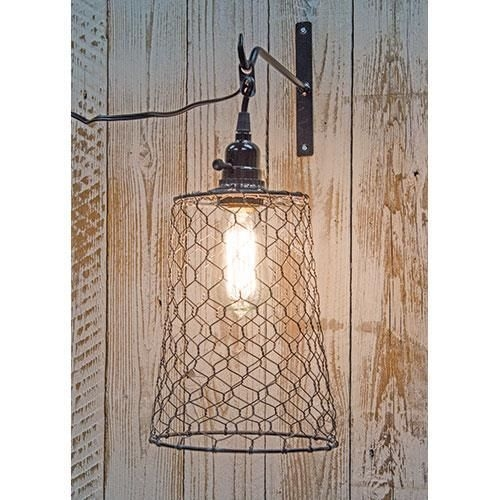 Remarkable High Quality Chicken Wire Pendant Lights With Regard To New Primitive Country Rustic Farm Chicken Wire Pendant Light (Image 23 of 25)