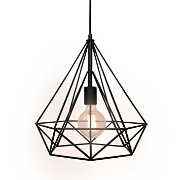 Remarkable High Quality Wrought Iron Pendant Lights Pertaining To Westmenlights Wrought Iron Diamond Shape Shade Modern Hanging (Image 19 of 25)