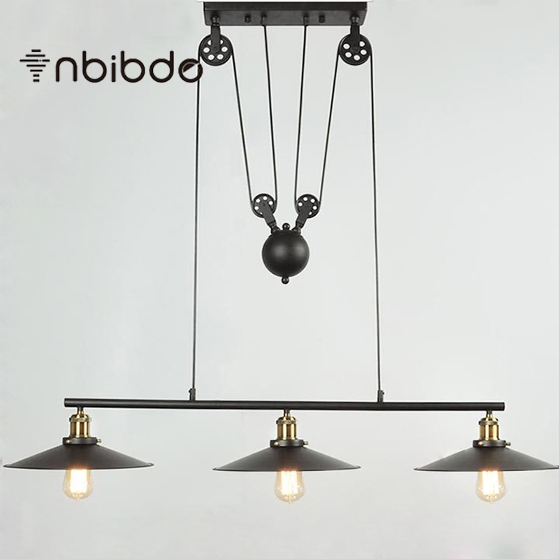 Remarkable Latest Adjustable Pulley Pendant Lights Regarding Popular Adjustable Pulley Pendant Lights Buy Cheap Adjustable (Image 21 of 25)