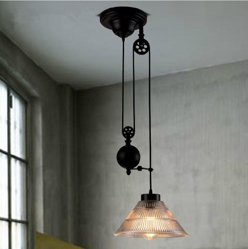 Remarkable Latest Pulley Pendant Lights For New Modern Loft Vintage Edison Industrial Pulley Pendant Lights W (Image 20 of 25)