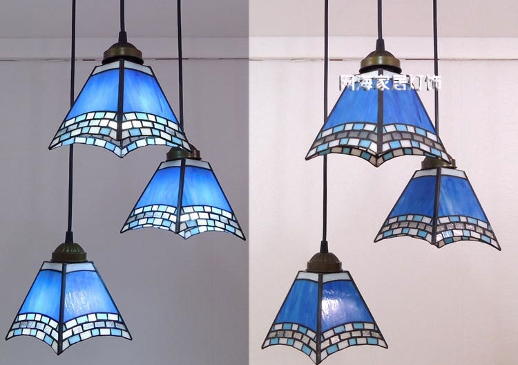Remarkable Latest Stained Glass Pendant Light Patterns With Regard To Fashion Antique Tiffany Stained Glass Block Parrot E27 Pendant (Image 23 of 25)