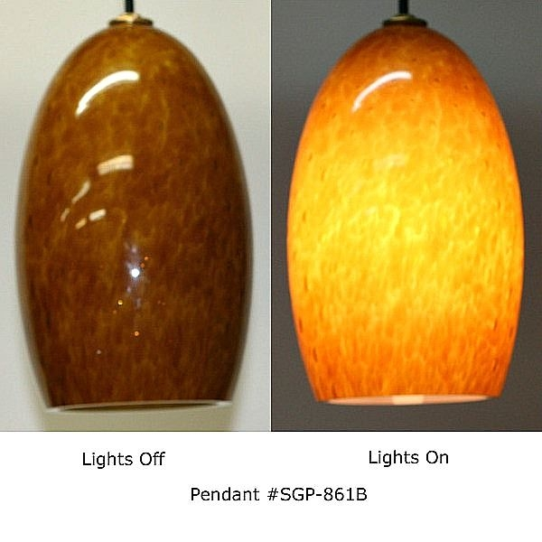 Remarkable New Brown Glass Pendant Lights Throughout Amber Honey Pendant Light Artisan Crafted Lighting (Image 21 of 25)