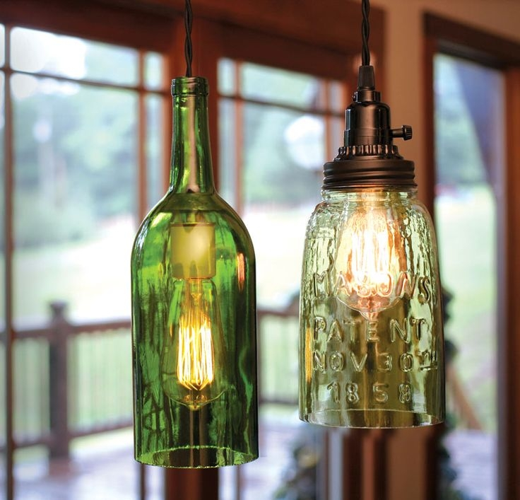 Remarkable Popular Wine Bottle Pendant Light For 8 Best Diy Wine Bottle Lamps Images On Pinterest (Image 20 of 25)