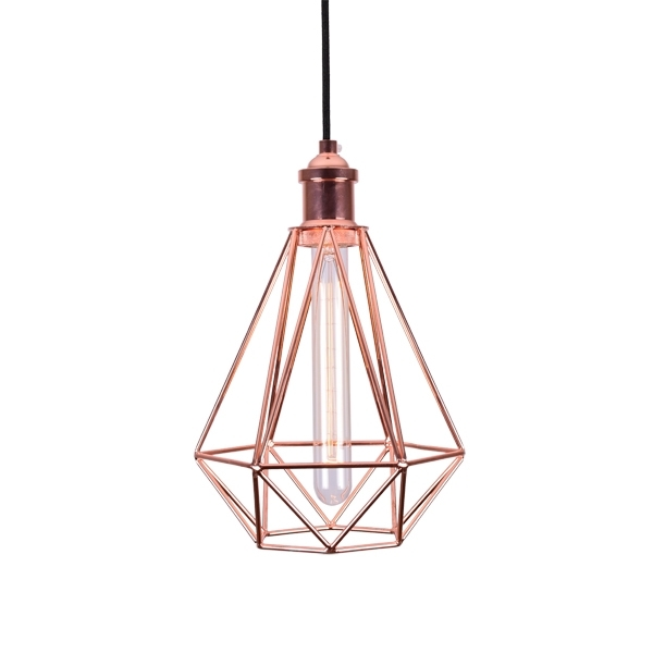 Remarkable Preferred Batten Fix Pendant Lights Regarding Cage Ceiling Lights Industrial Pendant Lighting (Image 20 of 25)