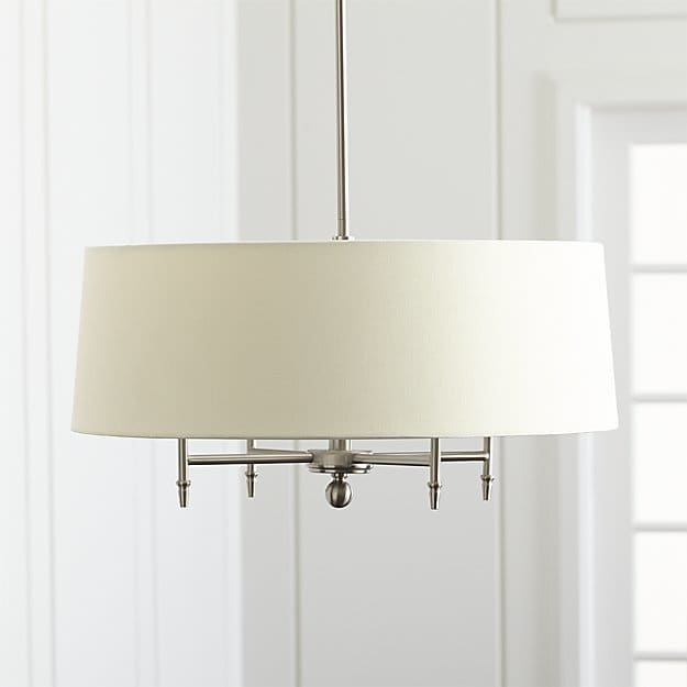 Remarkable Preferred Crate & Barrel Lighting With Regard To Arlington Nickel Chandelier Crate And Barrel (Image 19 of 25)