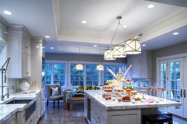 Remarkable Preferred Grosvenor Pendant Lights Inside Grosvenor Triple Pendant Light Transitional Kitchen (View 6 of 25)
