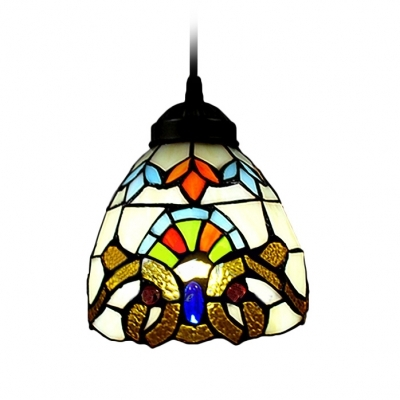 Remarkable Preferred Stained Glass Mini Pendant Lights Within Renaissance Pattern Baroque Tiffany Art Stained Glass Style Mini (Image 21 of 25)