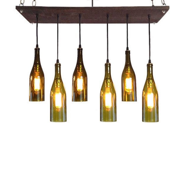Remarkable Premium Wine Bottle Pendant Light In Lightfixturesfromwinebottles Hanging Wine Bottle Light (Image 21 of 25)