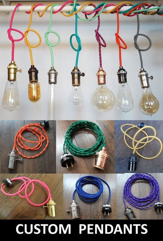 Remarkable Series Of Bare Bulb Filament Pendants Intended For 7 Cluster Chandelier Pendant Lighting Bare Bulb Hangoutlighting (Image 20 of 25)