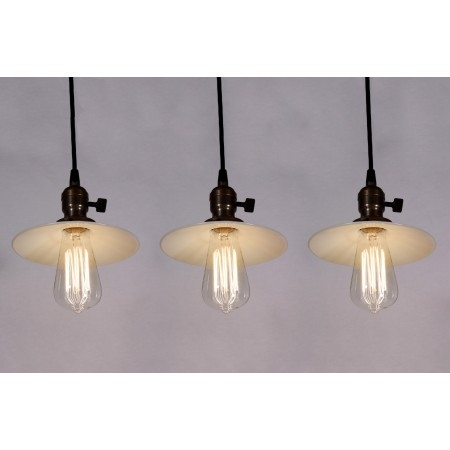 Remarkable Top Milk Glass Pendant Lights With Set Of Three Matching Antique Industrial Pendant Lights With Milk (Image 20 of 25)