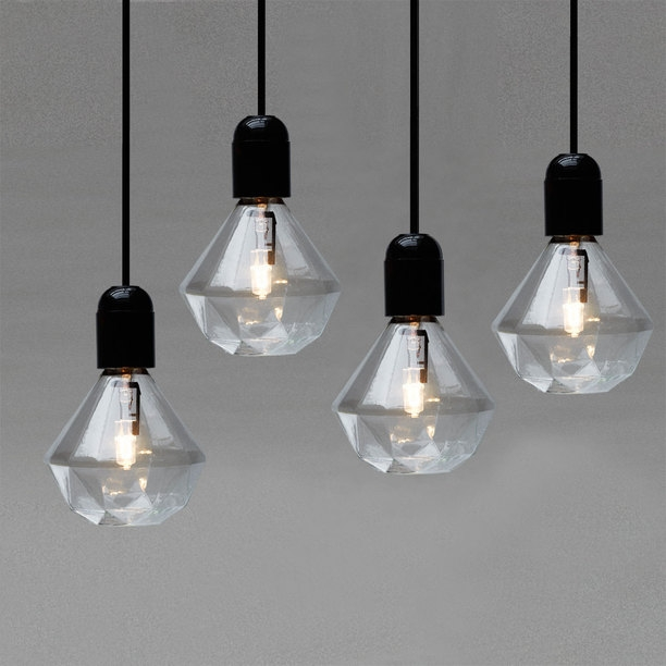 Remarkable Unique Bare Bulb Light Fixtures Regarding Nine Red Spotlight Diamond Light Bulbs (Image 23 of 25)