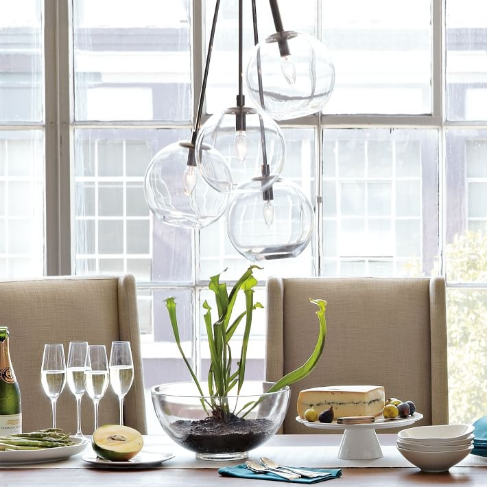 Remarkable Unique Cluster Glass Pendant Light Fixtures In Cluster Glass Pendant West Elm (Image 20 of 25)