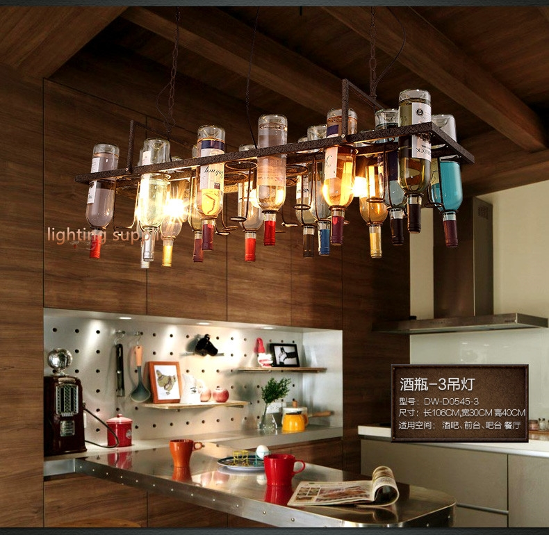 Remarkable Unique Liquor Bottle Pendant Lights Intended For Popular Bottle Lamps Buy Cheap Bottle Lamps Lots From China Bottle (Image 19 of 25)