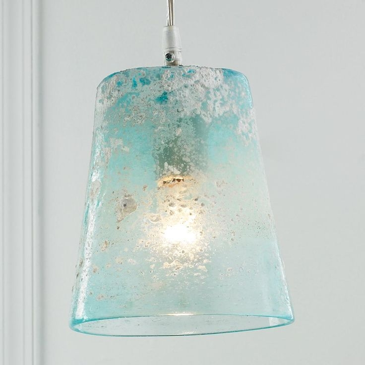 Remarkable Well Known Aqua Glass Pendant Lights Throughout 105 Best Sea Glass Lighting Images On Pinterest (View 5 of 25)