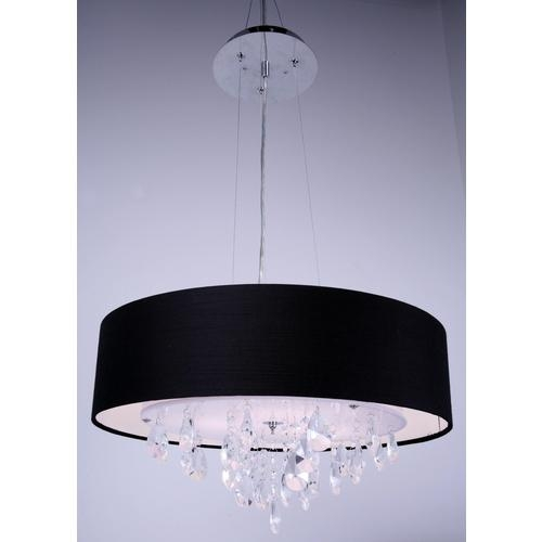 Featured Image of Black Pendant Light With Crystals