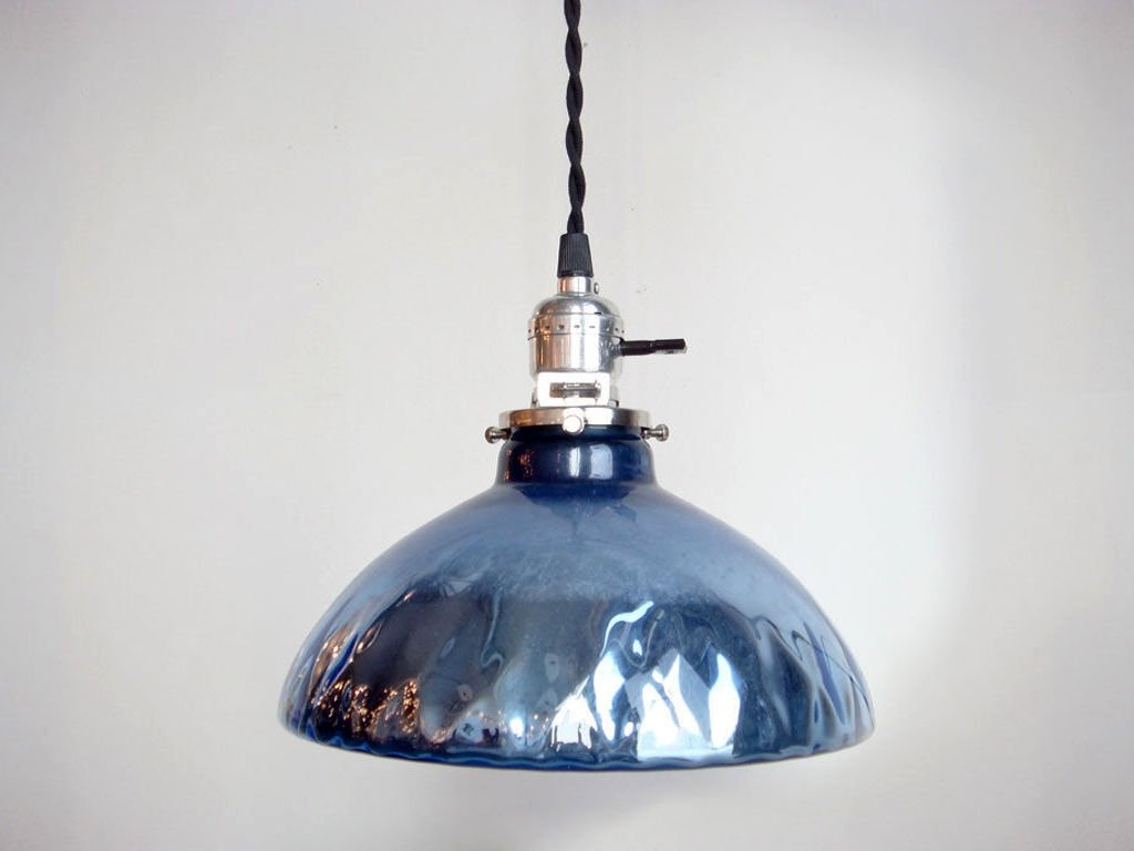 Remarkable Wellknown Blue Mercury Glass Pendant Lights Regarding Blue Mercury Glass Pendant Lights At 1stdibs (Image 13 of 15)