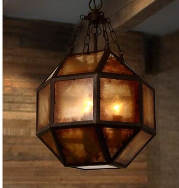 Remarkable Wellknown Octagon Pendant Lights For Aliexpress Buy America Vintage Octagon Iron Industrial (Image 20 of 25)