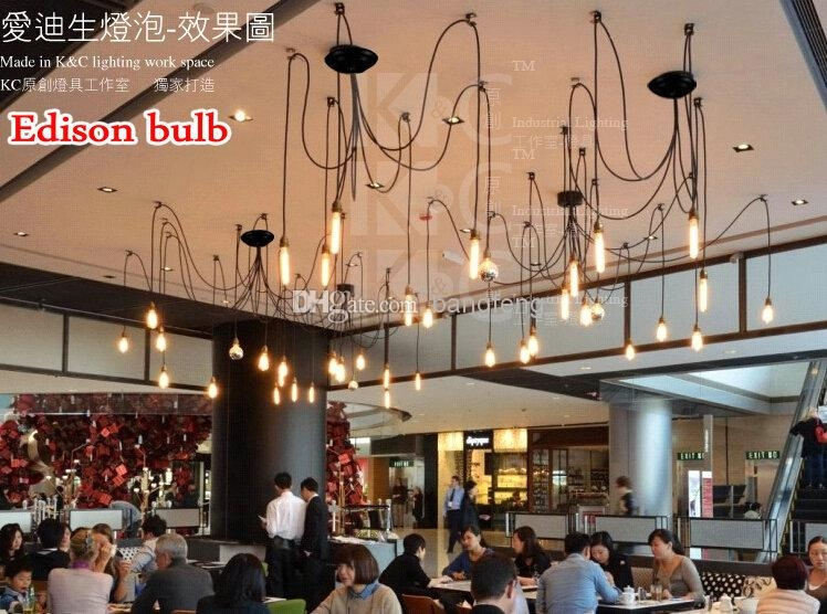 Remarkable Wellknown Restaurant Pendant Lights With Regard To 10 Light Vintage Cafe Edison Pendant Light Restaurant Bar Spider (Image 22 of 25)