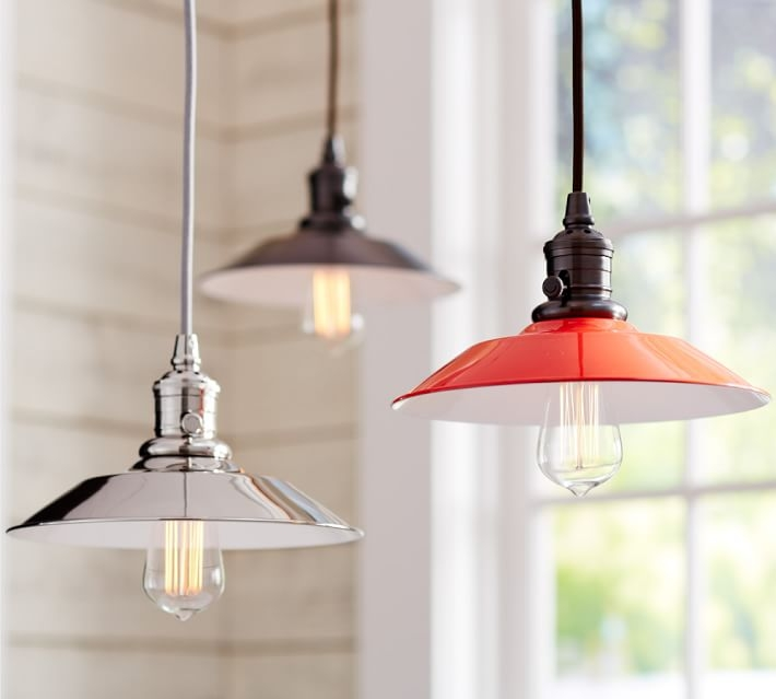 Remarkable Wellliked Barn Pendant Lights For Pb Classic Pendant Metal Flared Pottery Barn (Image 21 of 25)