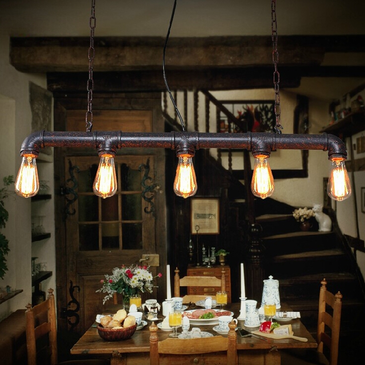 Remarkable Wellliked Restaurant Pendant Lighting Pertaining To Online Shop Vintage Industrial Iron Conduit Loft Pendant Lamps (Image 22 of 25)