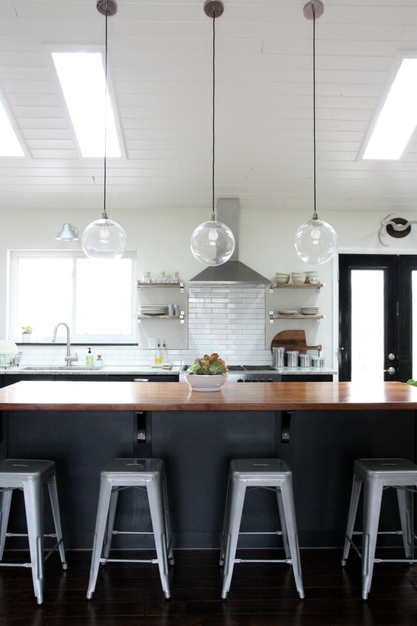 Remarkable Widely Used Vaulted Ceiling Pendant Lights Pertaining To Amazing Vaulted Ceilings In The Kitchenliving Room Area House (Image 20 of 25)