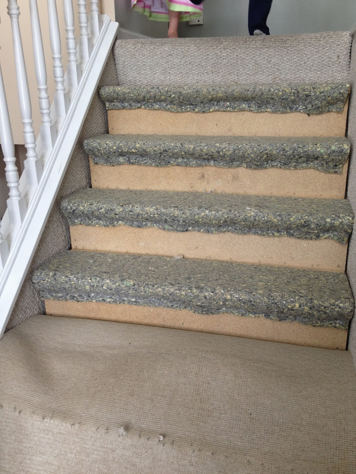 Remodelaholic 60 Carpet To Hardwood Stair Remodel Regarding Diy Stair Tread Rugs (Image 8 of 15)