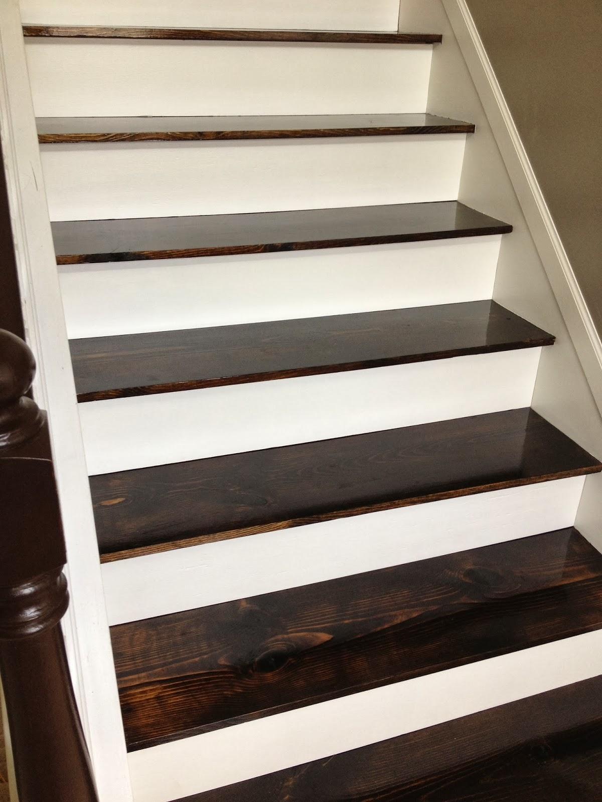 Remodelaholic 60 Carpet To Hardwood Stair Remodel Throughout Diy Stair Tread Rugs (View 10 of 15)