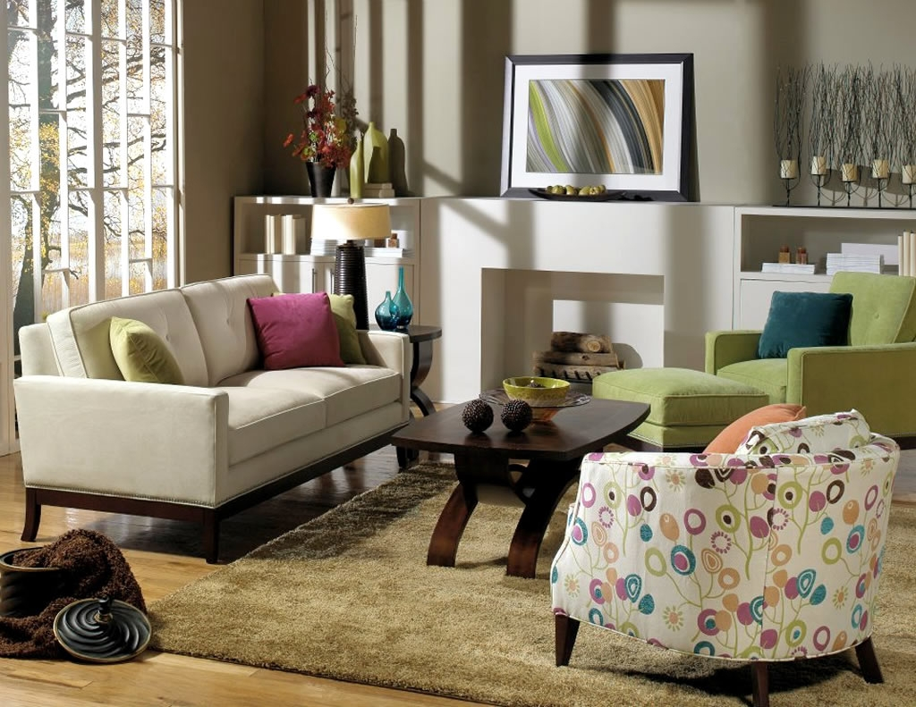 Residential Interior Design With Reese Sofa Reese Chair Ottoman For Sofa Chair And Ottoman (Image 12 of 15)