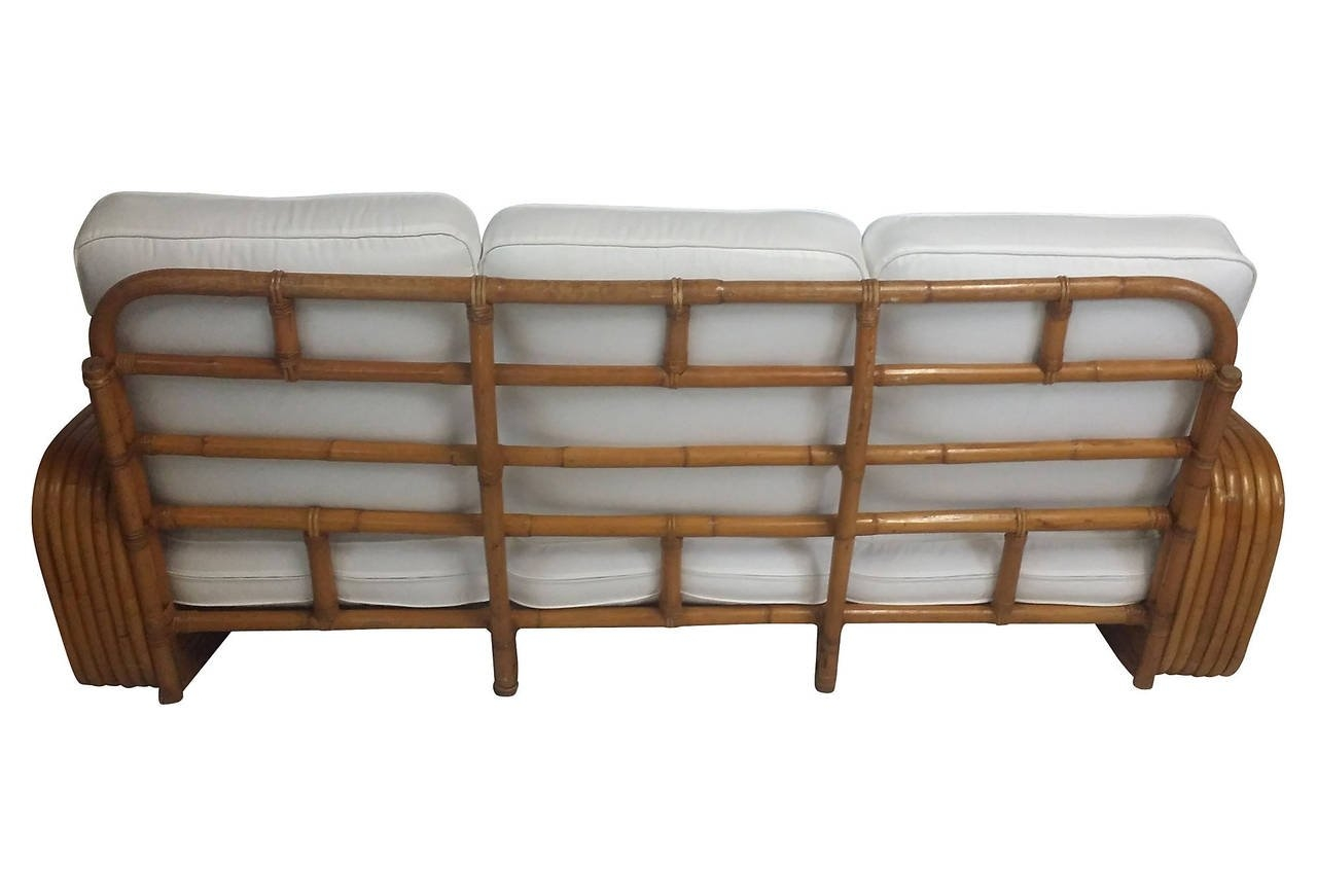 Restored 1930s Six Strand Square Pretzel Sofa In The Manner Of For 1930s Couch (Image 8 of 15)