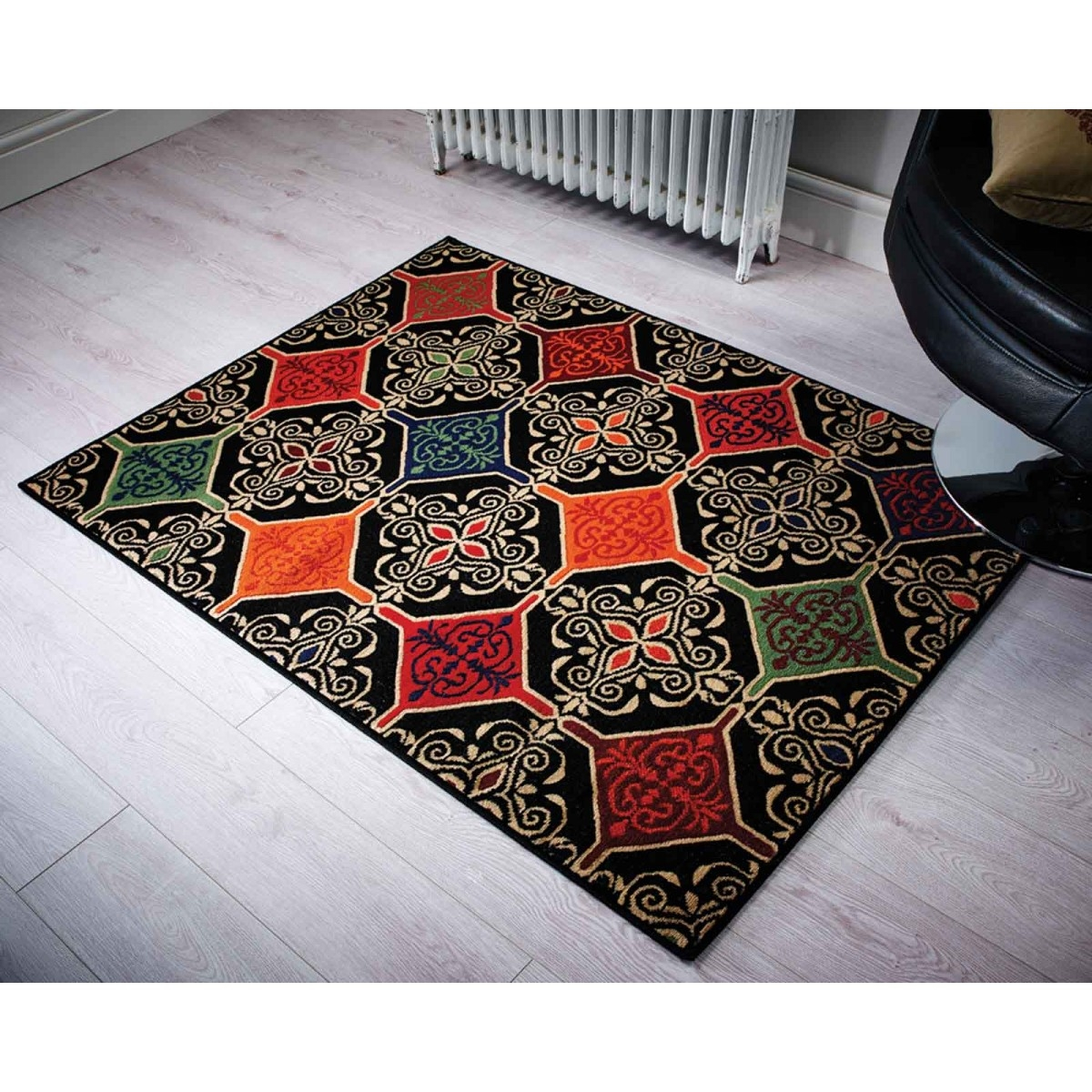 Retro Funky Mosaic Tiles Rug Flair Rugs Therugshopuk Regarding Retro Rugs (Image 9 of 15)