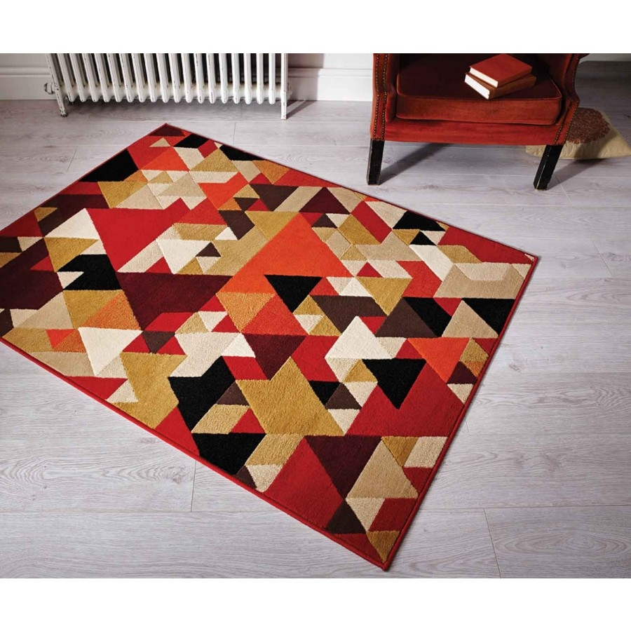 Retro Funky Pyramids Rug Flair Rugs Therugshopuk With Retro Rugs (Image 10 of 15)