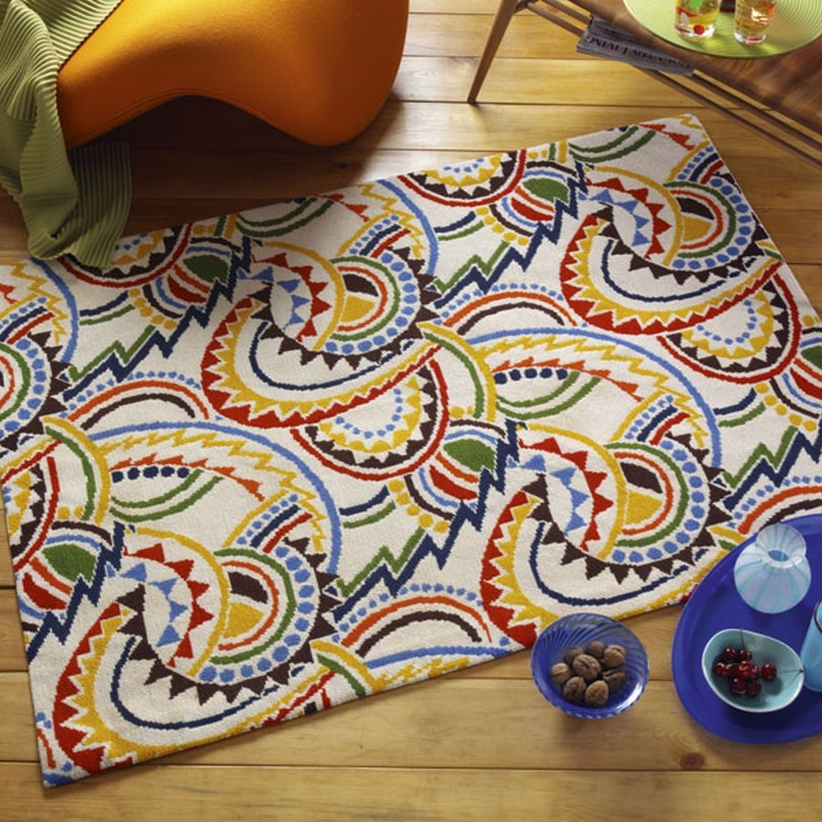 Retro Rug Ehrman Tapestry With Retro Rugs (View 3 of 15)