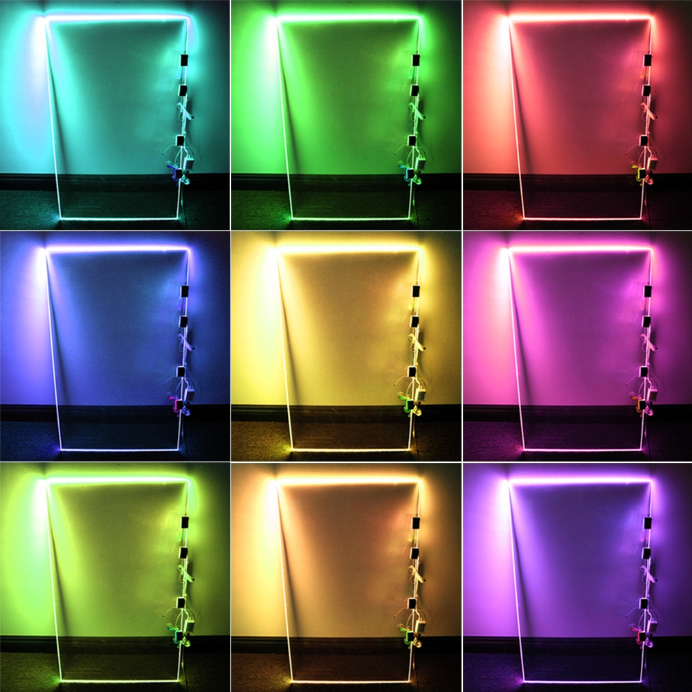 Rgb Led Glass Edge Lighting Kit Led Glass Shelf Lights Torchstar For Glass Shelves With Lights (Photo 8 of 15)