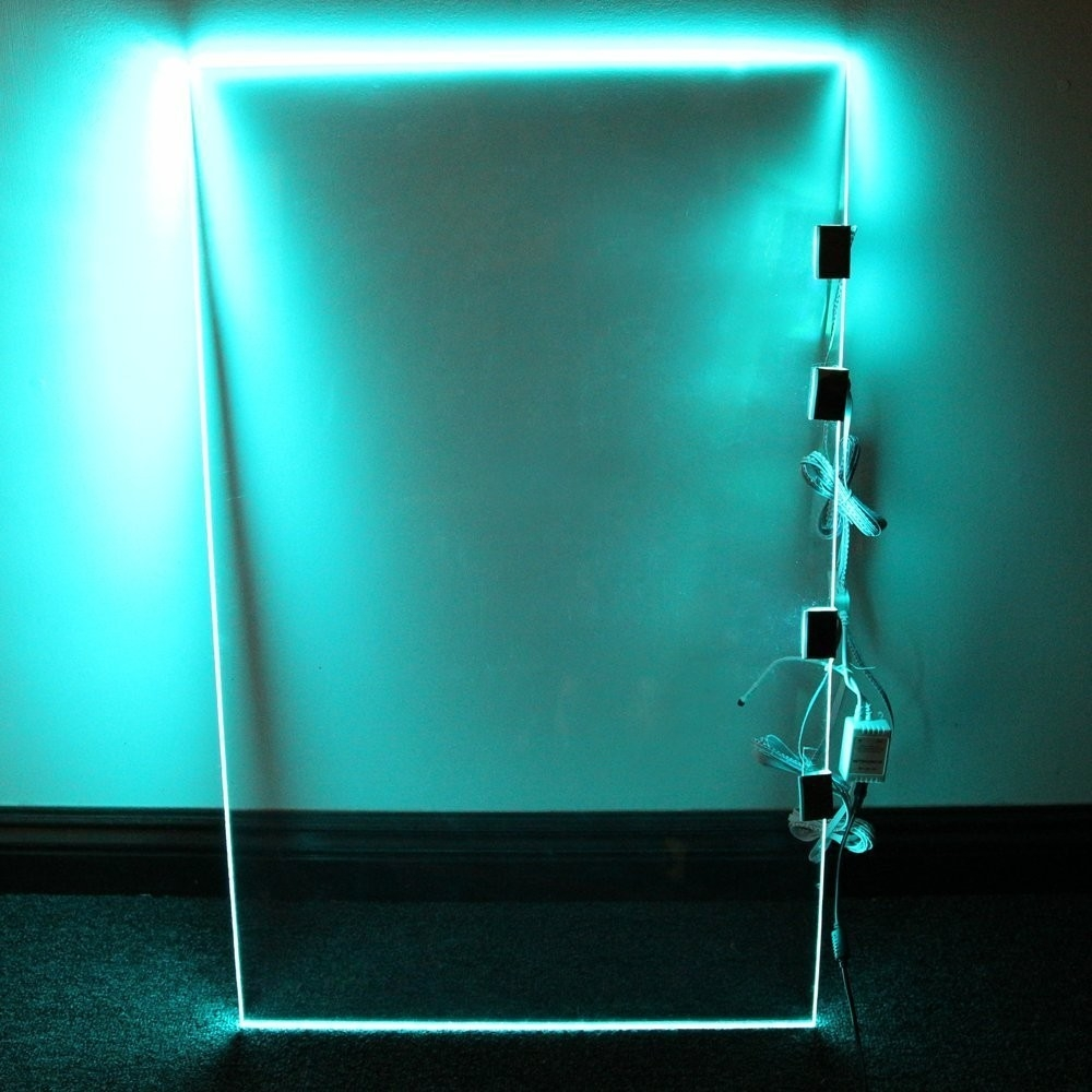 Rgb Led Glass Edge Lighting Kit Led Glass Shelf Lights Torchstar Throughout Glass Shelves With Lights (Photo 9 of 15)