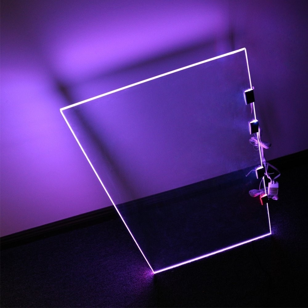 Rgb Led Glass Edge Lighting Kit Led Glass Shelf Lights Torchstar Throughout Glass Shelves With Lights (View 12 of 15)