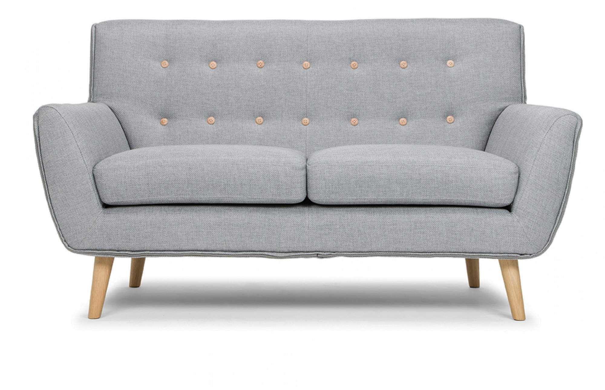 Richard 2 Seater Sofa In Stone Grey Out And Out Original Throughout Two Seater Chairs (Image 12 of 15)