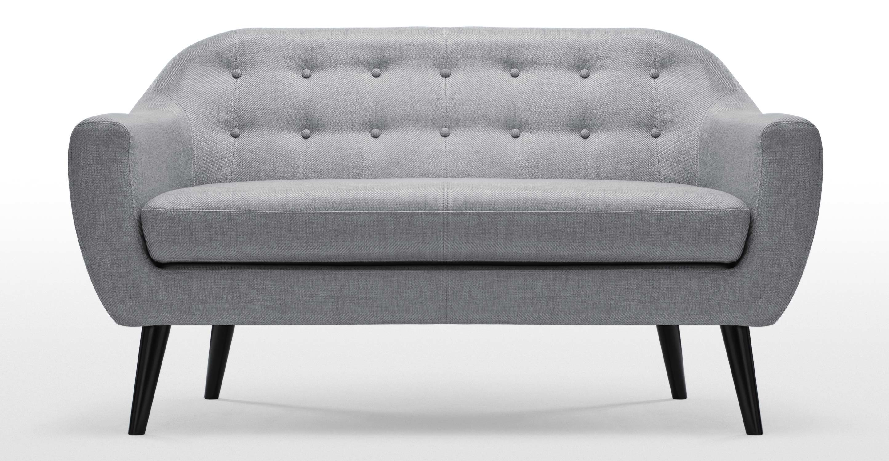 Ritchie 2 Seater Sofa In Pearl Grey Made Regarding Two Seater Chairs (Image 13 of 15)