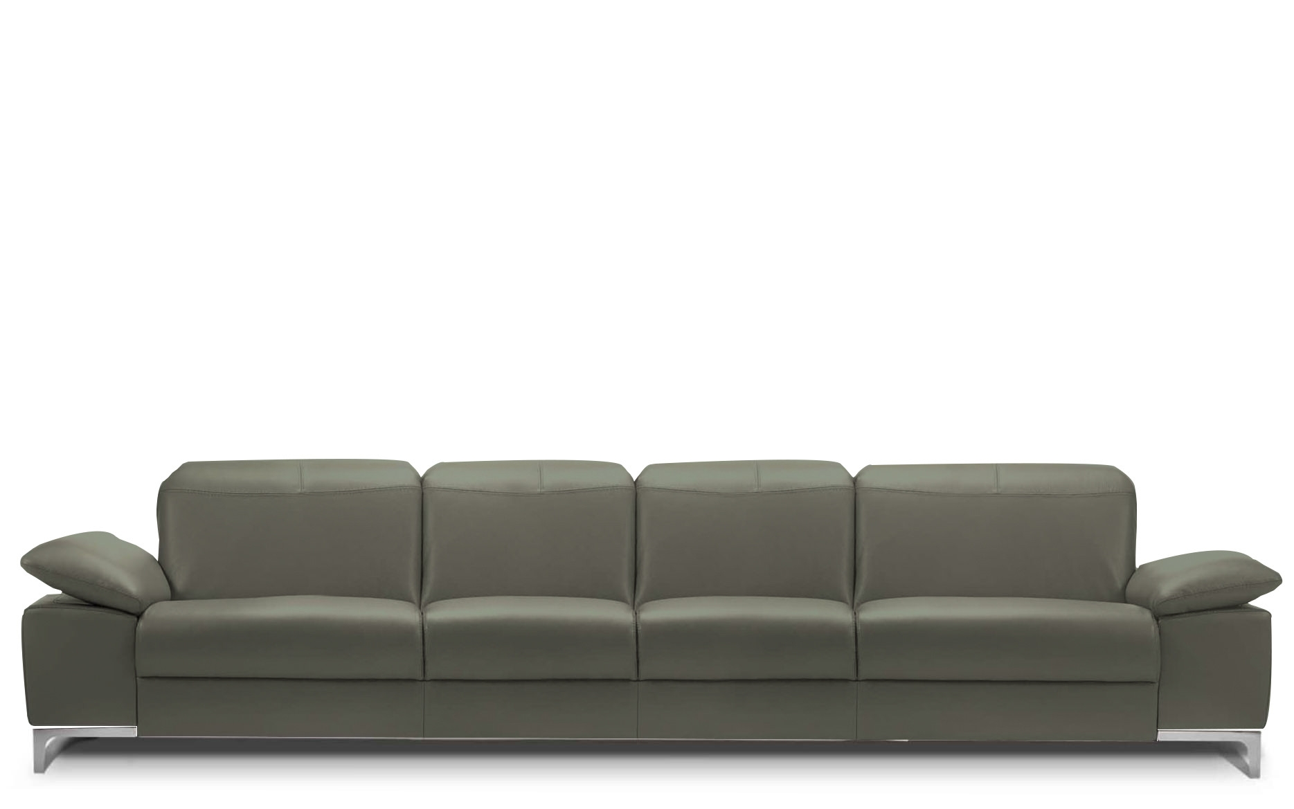 Rom Chronos 4 Seater Leather Sofa Buy At Kontenta Regarding 4 Seat Sofas (Image 15 of 15)