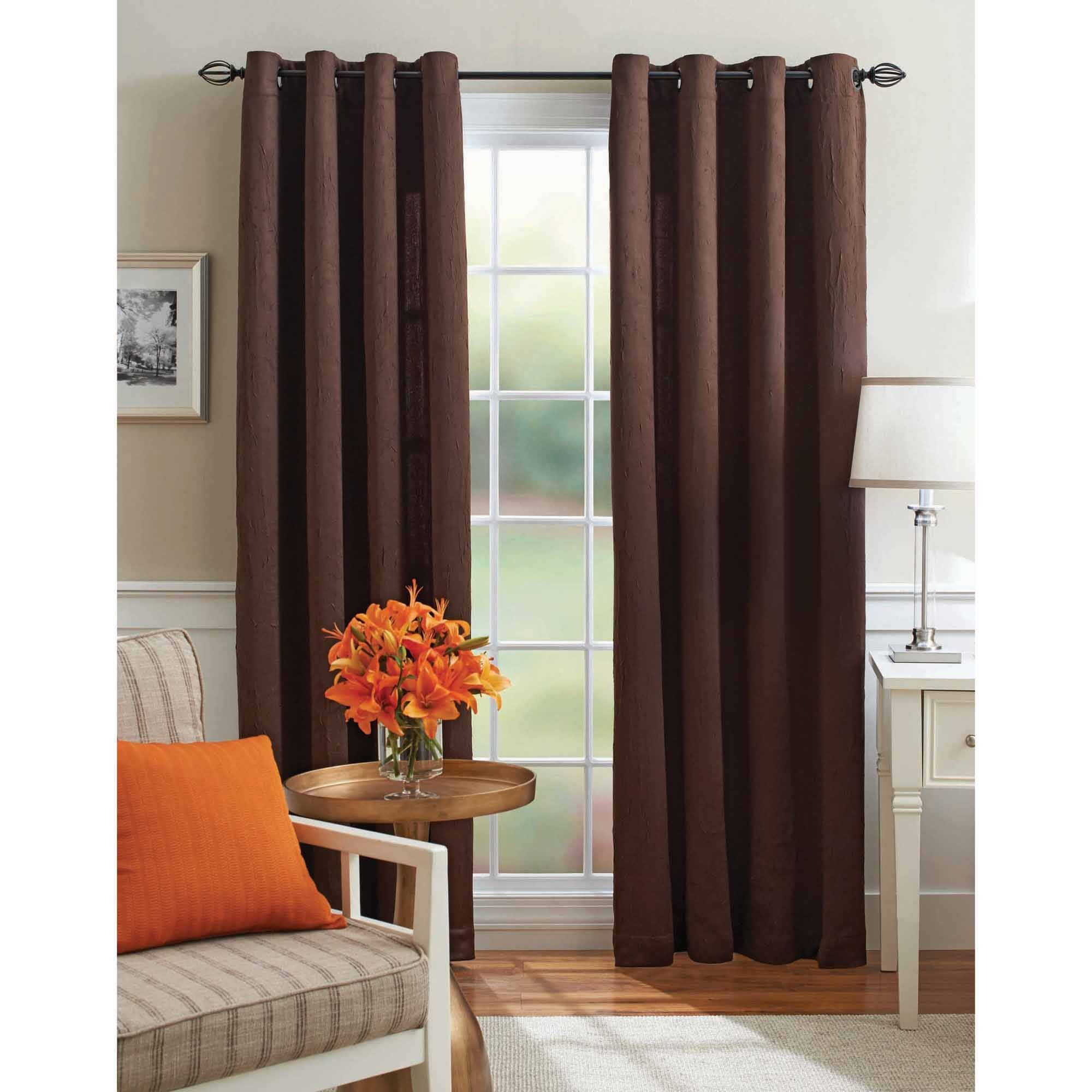 Room Darkening Curtains Walmart Regarding Faux Suede Curtain Panels (Image 19 of 25)