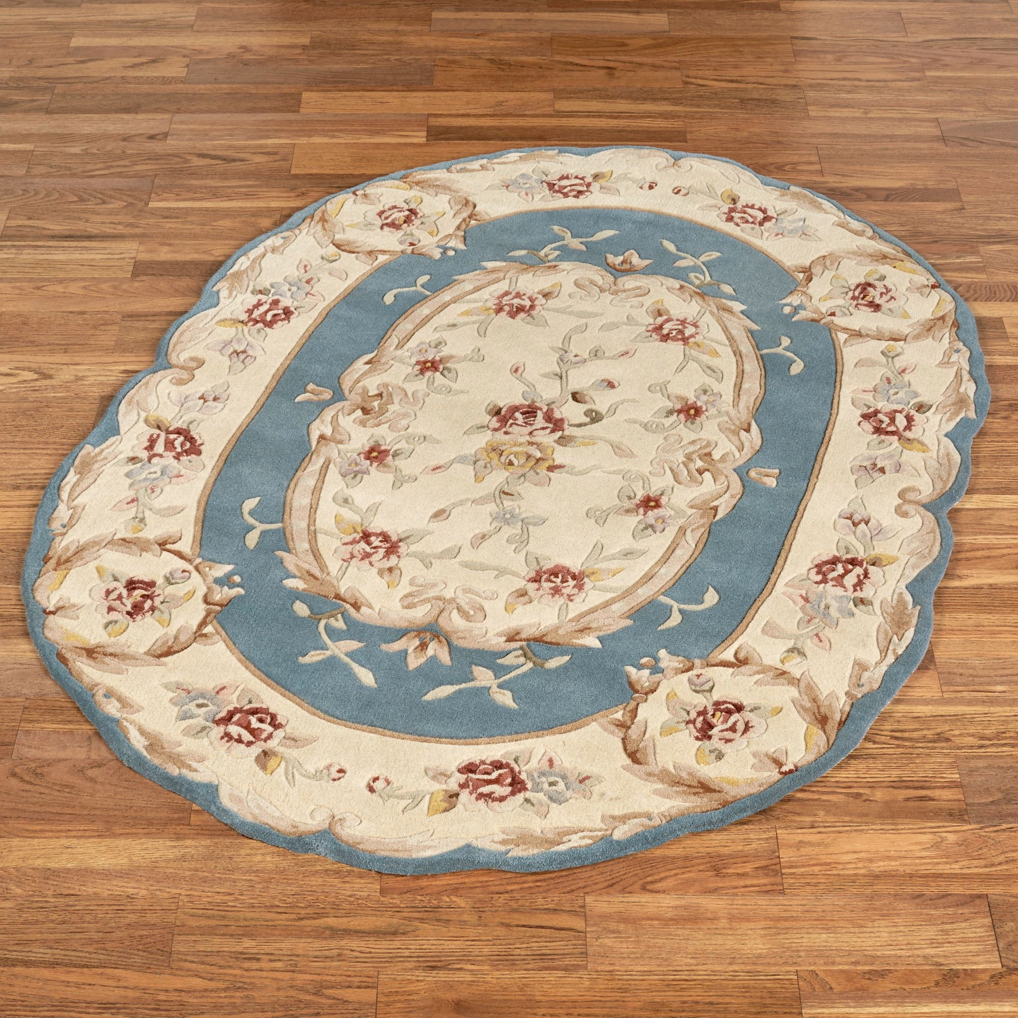 Rose Aubusson Sculpted Oval Rugs With Regard To Oval Rugs (Image 9 of 15)