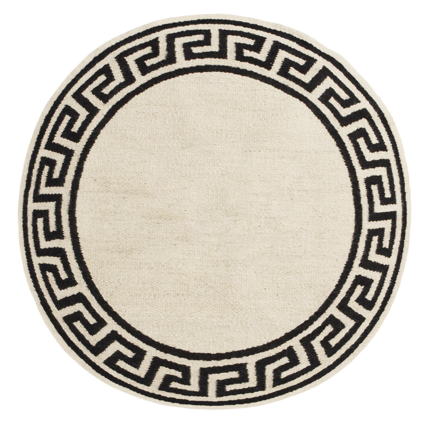 Round Greek Key Border Rug Modern Holding Category For Inventory Within Round Wool Rugs (Image 13 of 15)