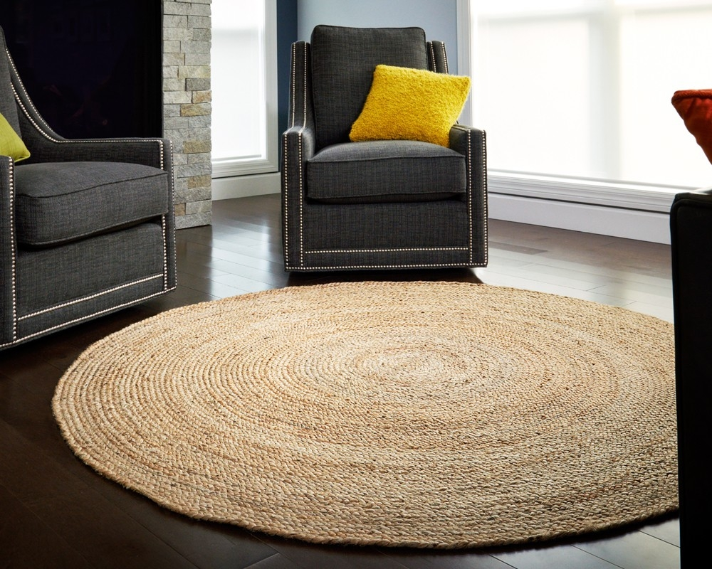 Round Jute Rugs Shop Size Color Sisal Rugs Direct In Large Jute Rugs (Image 15 of 15)