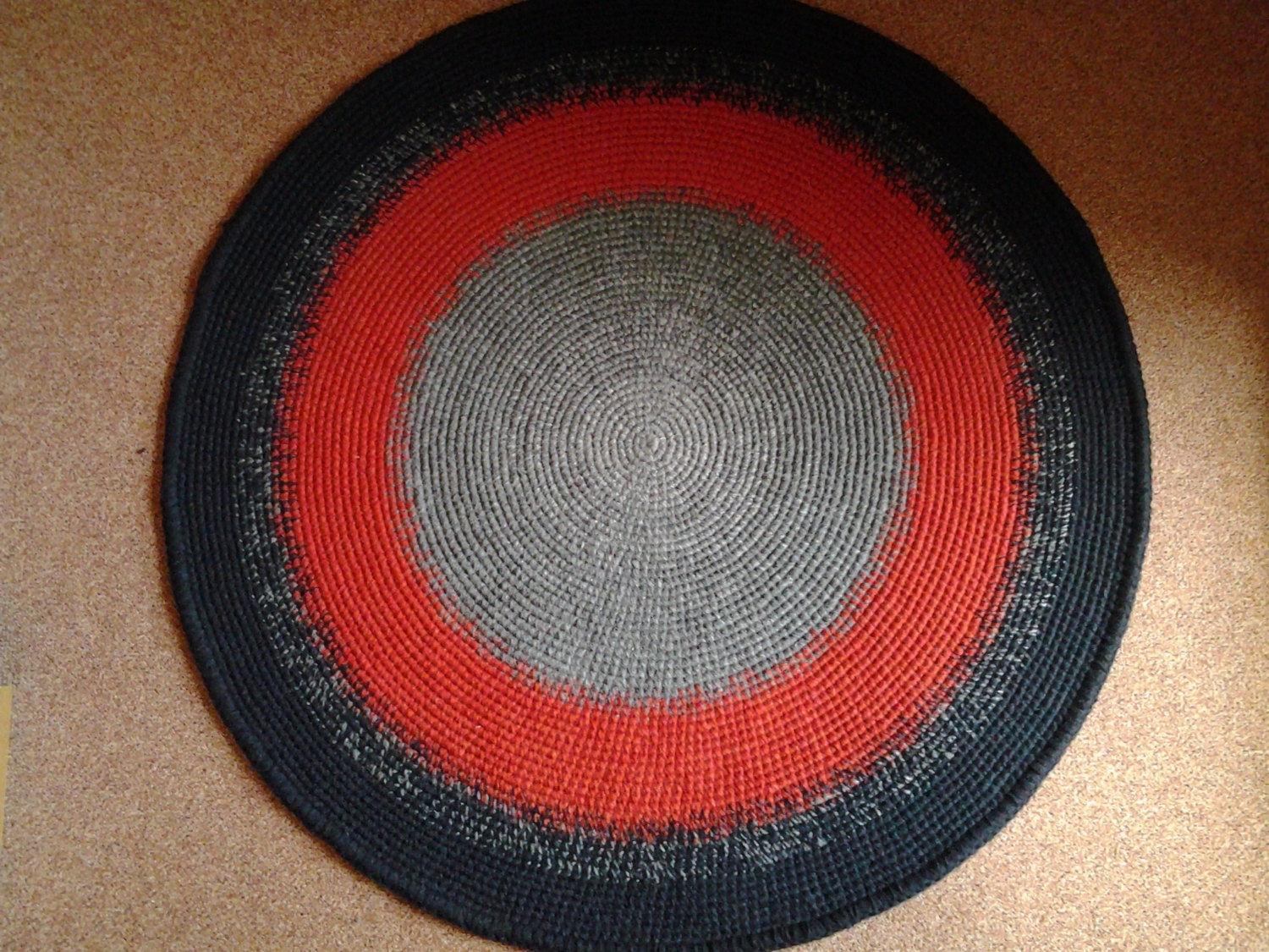 Round Rug Etsy Regarding Circular Wool Rugs (Image 10 of 15)